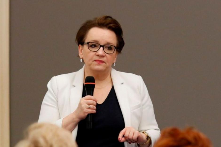 Anna Zalewska: Mam nadzieję, że do strajku nie dojdzie, choć szanuję wszystkie decyzje nauczycieli