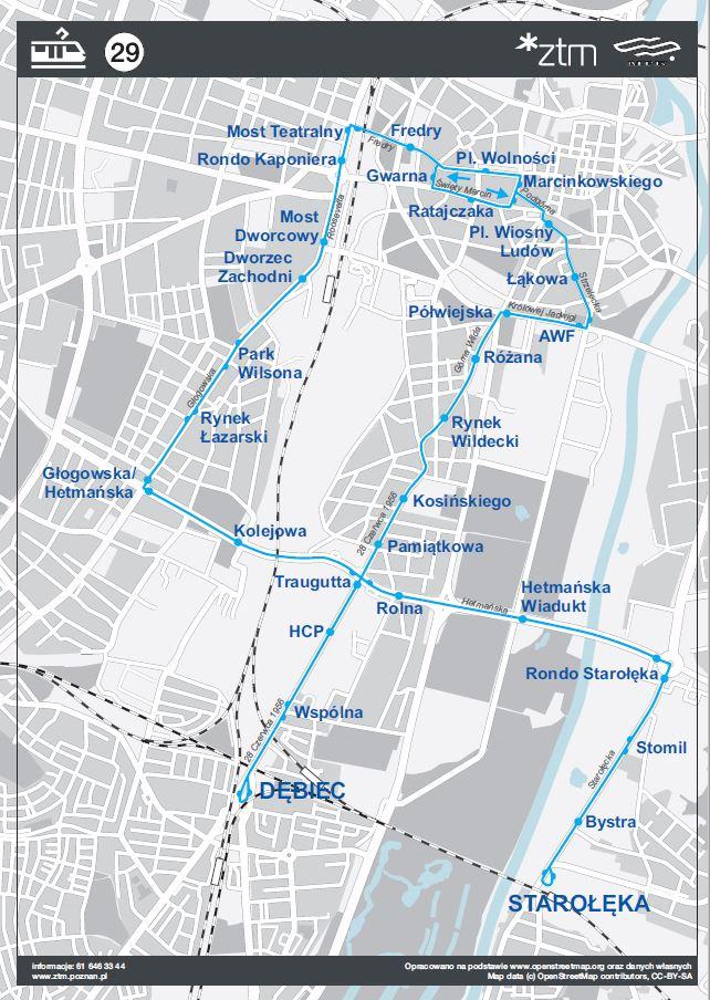 Schemat linii 29 (fot.poznan.pl)