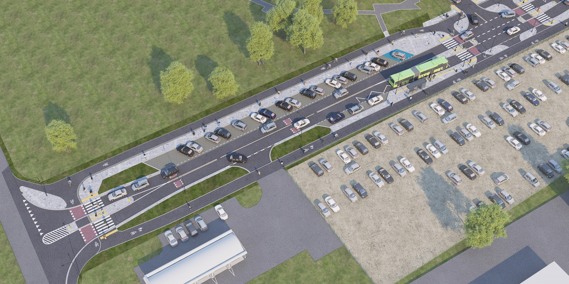 Zwycięzca przetargu wybuduje torowisko wraz z siecią trakcyjną, pętlę tramwajowo-autobusową wyposażoną w budynek ekspedycji, przystanki tramwajowe i autobusowe (fot.poznan.pl)