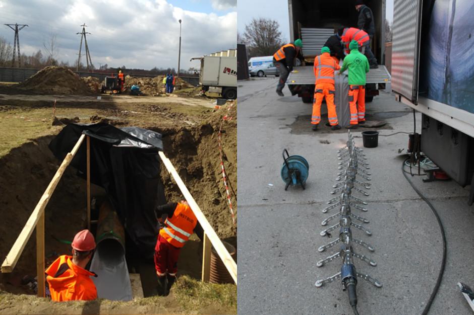 Bełchatów: Magistrala wodociągowa i kolektor w remoncie