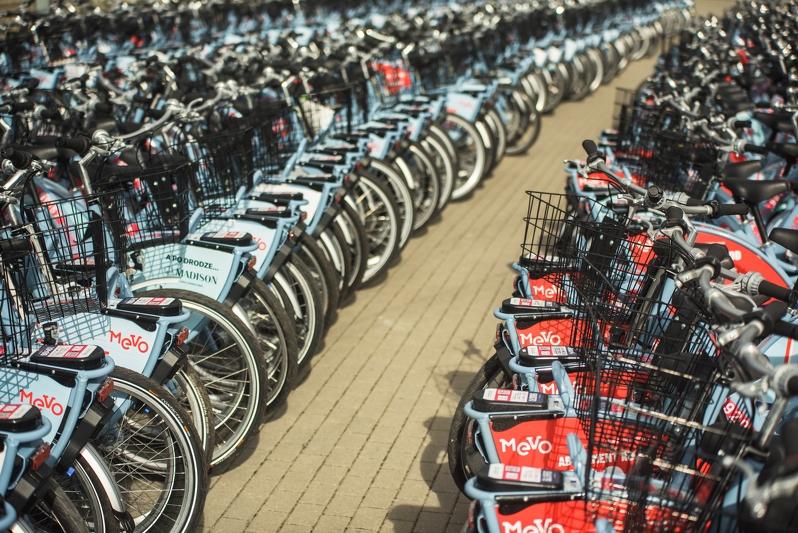 1224 rowery są dostępne na terenie 14 miast i gmin projektu Systemu Roweru Metropolitalnego (fot. Dominik Paszliński/gdansk.pl)