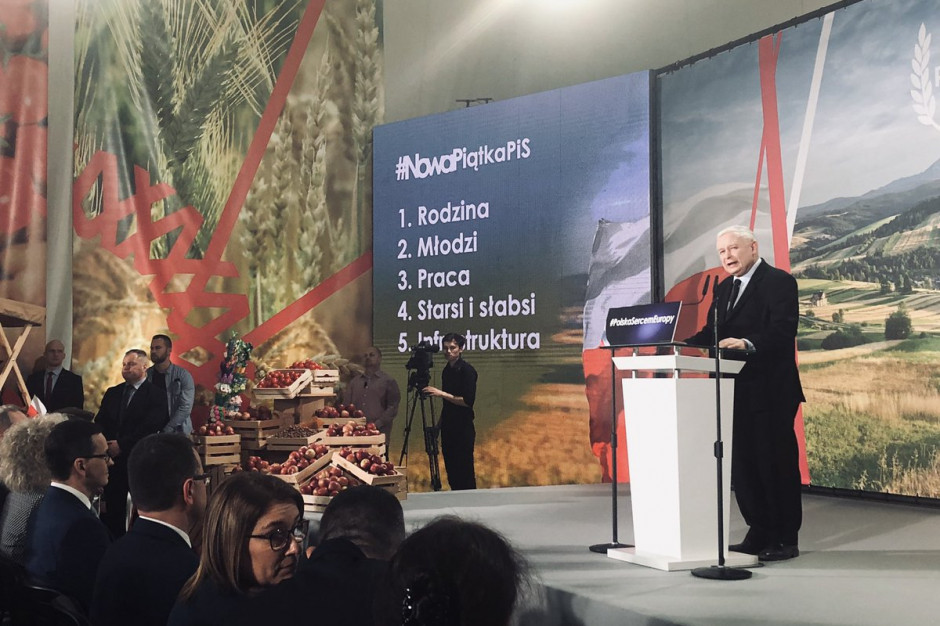Kaczyński zapowiada więcej pieniędzy z UE na rolnictwo