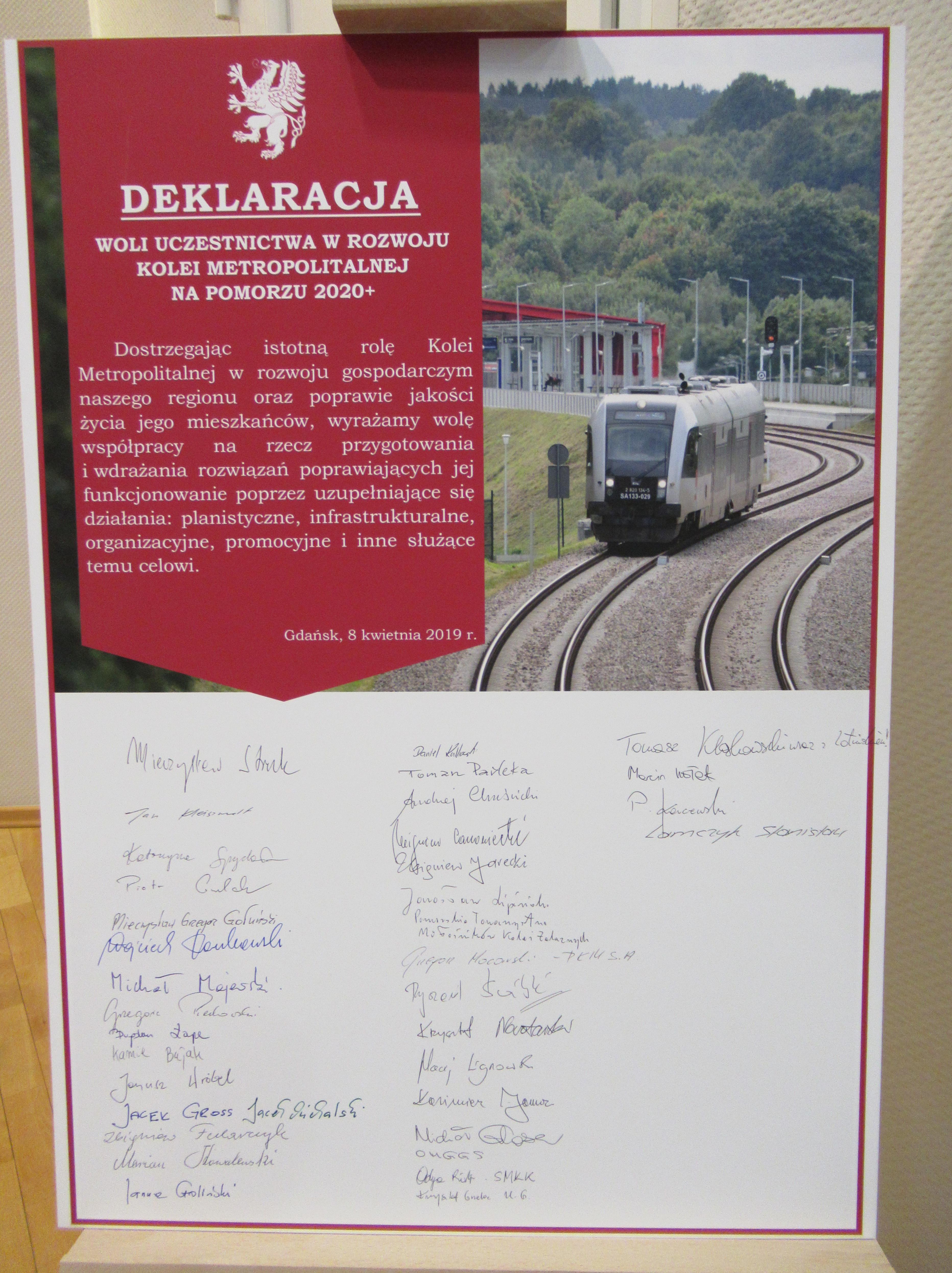 Deklaracja została podpisana 8 kwietnia 2019 r. (fot. Aleksander Olszak)