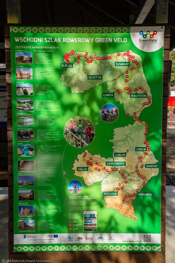 Szlak Green Velo to projekt, który zrealizowano w pięciu wschodnich województwach (fot. UM Białystok)