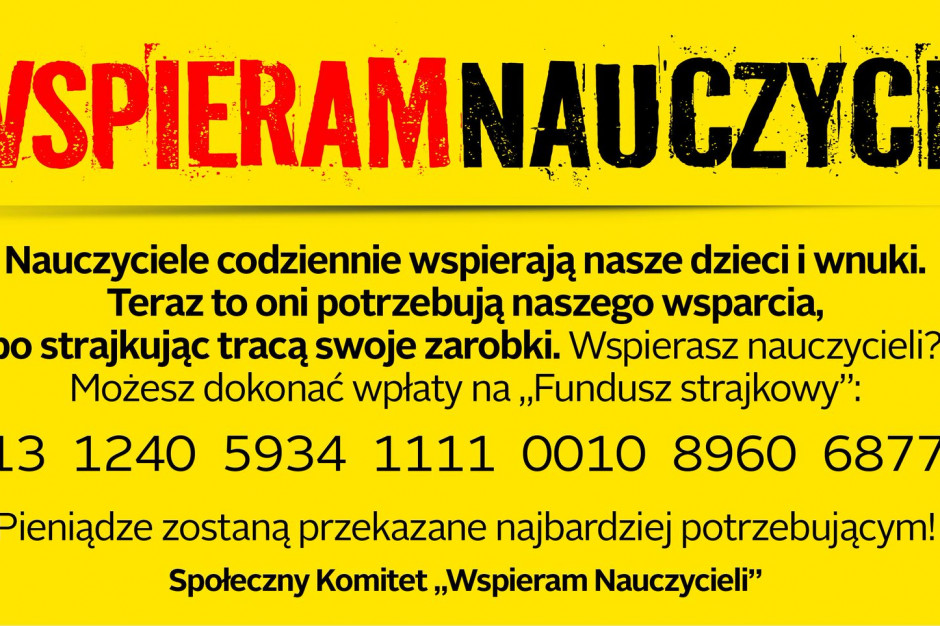 Akcja Związku Nauczycielstwa Polskiego: nauczyciele zbierają pieniądze. Każdy może się dołożyć