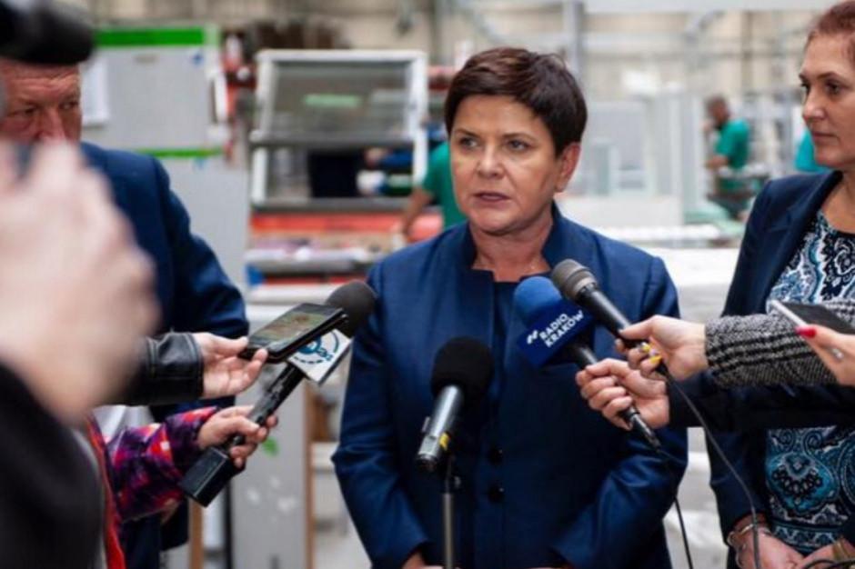 Beata Szydło: Nie czas na to, aby do strajków mieszać politykę