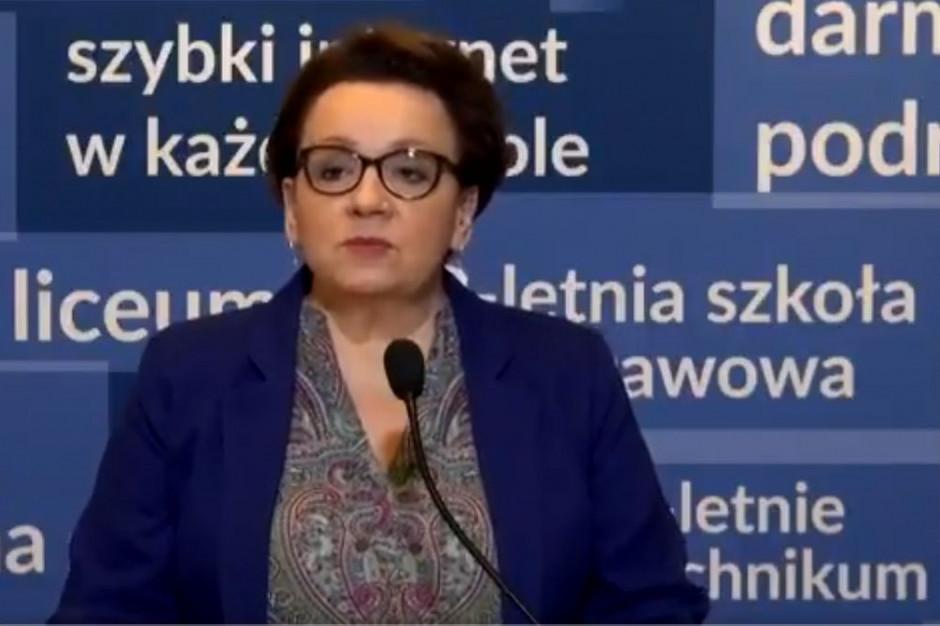 Anna Zalewska podsumowała egzaminy po gimnazjum i po ósmej klasie