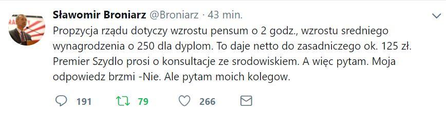 Komentarz Sławomira Broniarza