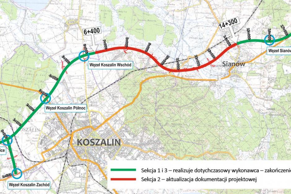 Nowy projekt i nowa umowa. Ruszy budowa obwodnicy Koszalina i Sianowa