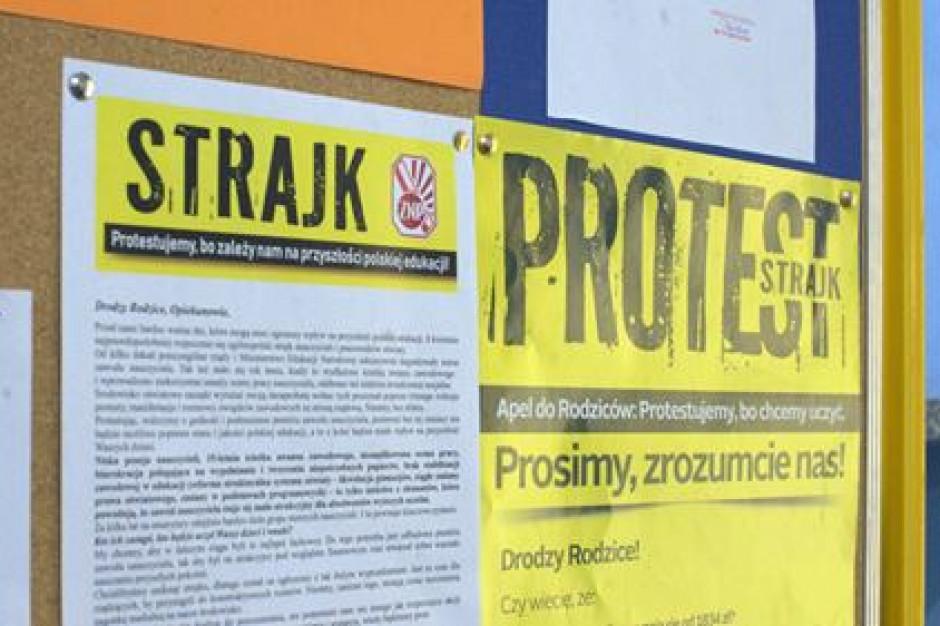 Coraz mniej protestujących nauczycieli w Lubuskiem, ale skala strajku i tak duża