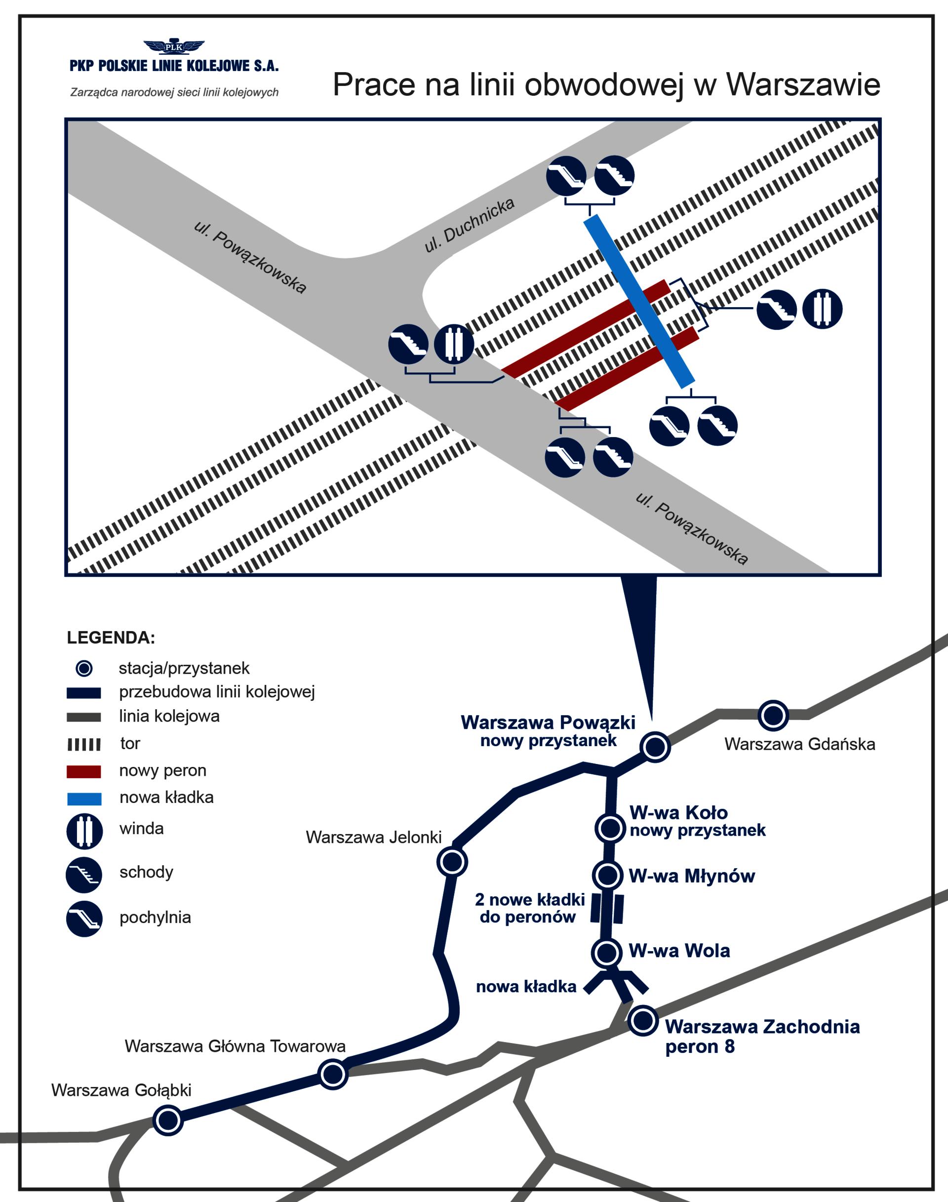 Nowy przystanek ma zwiększyć dostępność kolei dla Warszawiaków (źródło: PKP PLK)