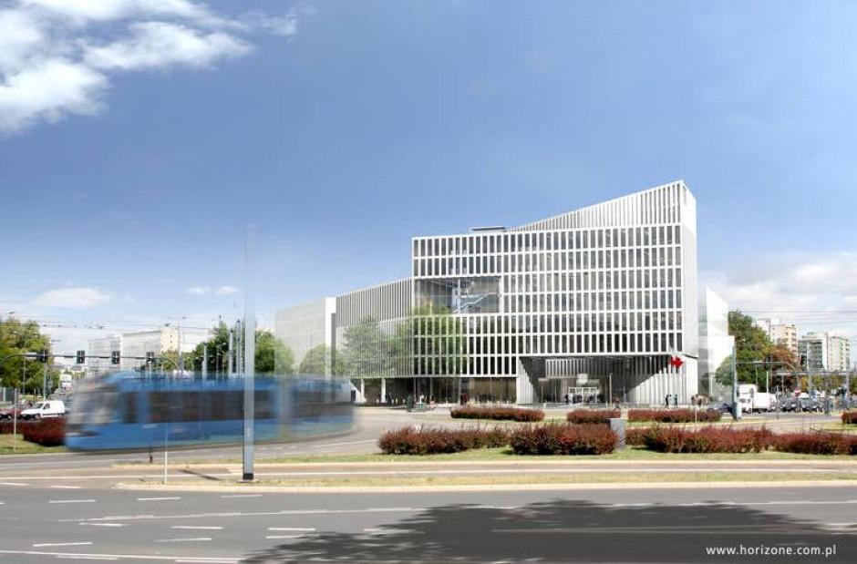 Nowa siedziba Urzędu Marszałkowskiego ma powstać przy rondzie Grzegórzeckim w Krakowie (fot. horizone.com.pl)