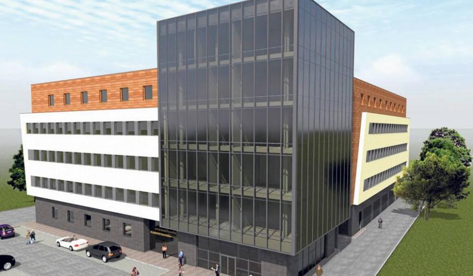 Trwają prace wykończeniowe nowego budynku Urzędu Marszałkowskiego w Rzeszowie. (fot.mat.prasowe).