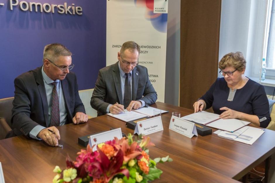 Kujawsko-Pomorskie dofinansuje budowę ronda w Białych Błotach