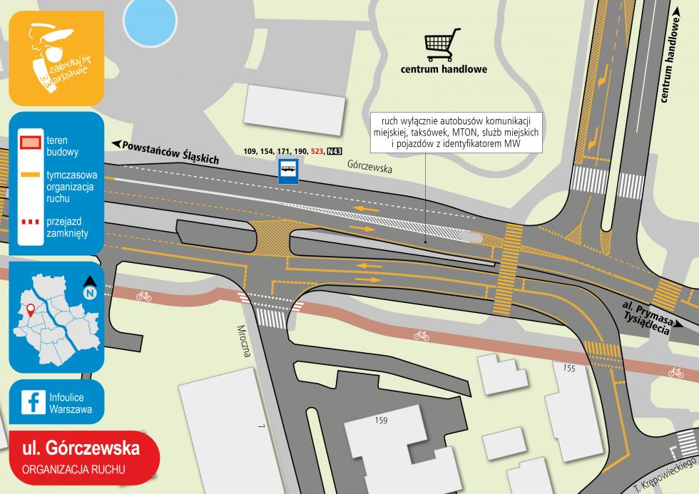 Ulica Górczewska - organizacja ruchu, część druga (fot. UMW)