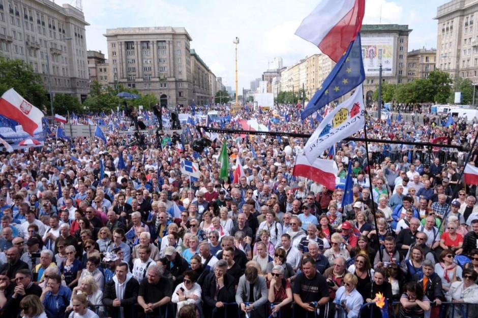 Blisko 45 tys. osób na marszu Koalicji Europejskiej