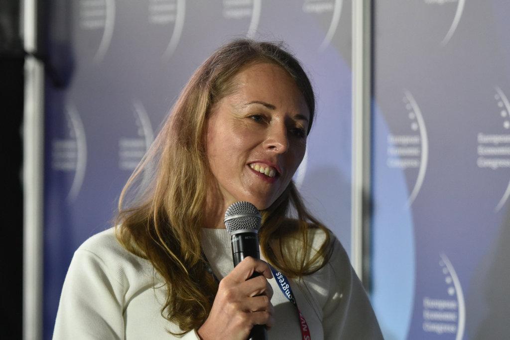 Kamila Bondar, prezes zarządu Fundacji Sztuki Polskiej ING (fot. PTWP)