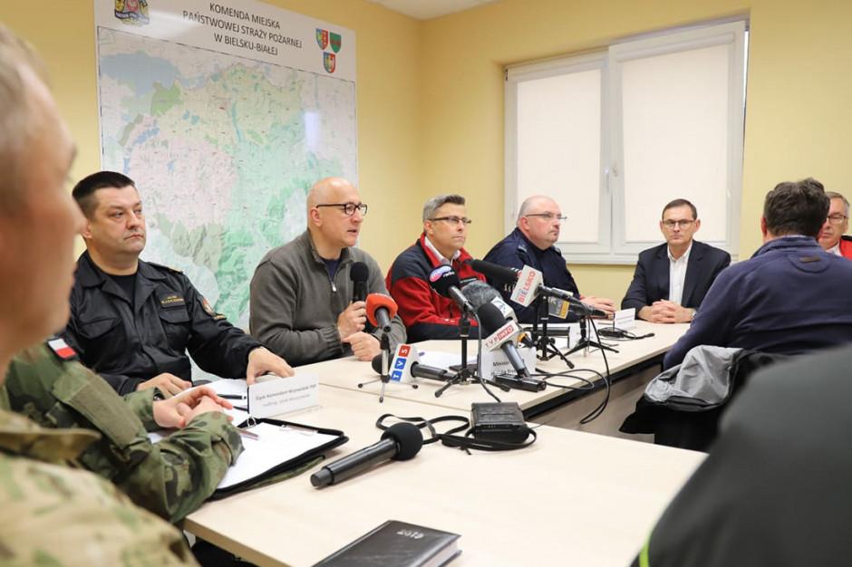 Szef MSWiA omówił sytuację pogodową na Śląsku