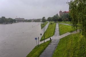 Kraków: Fala kulminacyjna spodziewana ok. 8 godz.