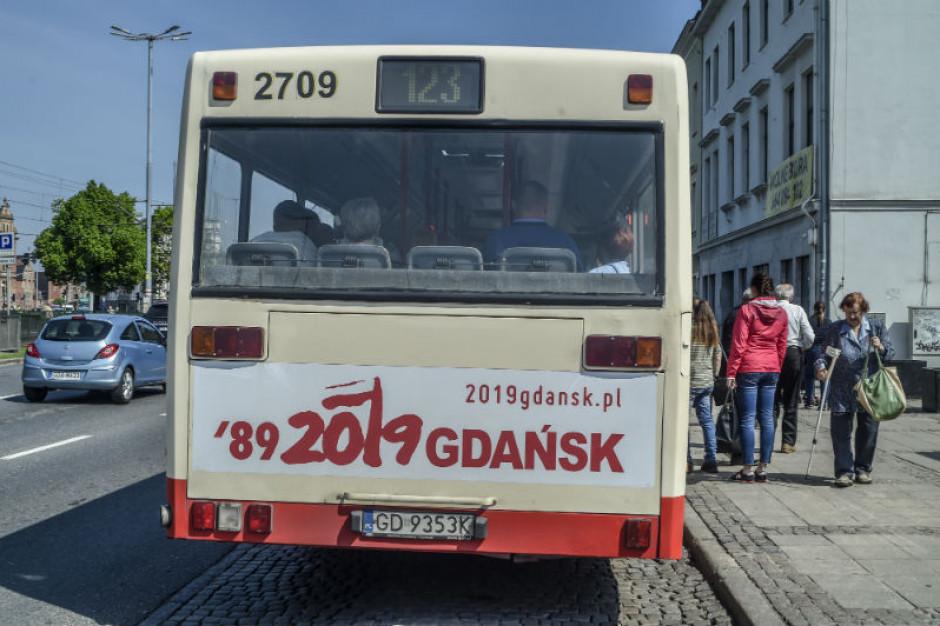 Na ulicach Gdańska widać zbliżającą się rocznicę wyborów '89
