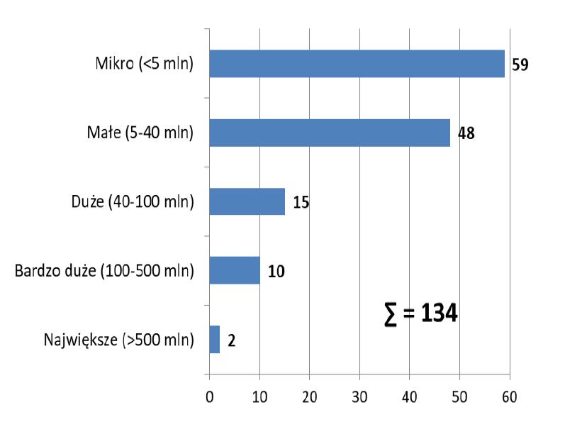 Umowy w podziale na wartość projektu (fot. raport MIiR)