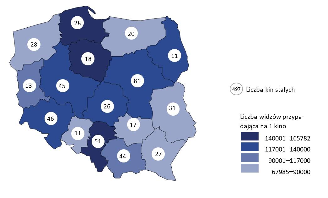 Kina w Polsce w 2018 r. Źródło: GUS.