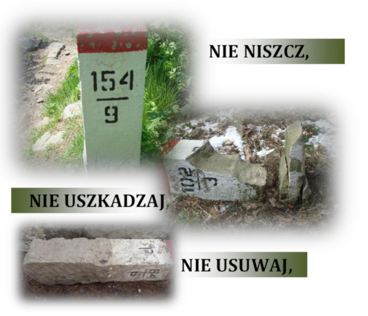 Polski kodeks karny nadal przewiduje za niszczenie, uszkadzanie, usuwanie, przesuwanie znaków granicznych lub czynienie ich niewidocznymi grzywnę, karę ograniczenia a nawet pozbawienia wolności do dwóch lat (fot.slaski.strazgraniczna.pl)