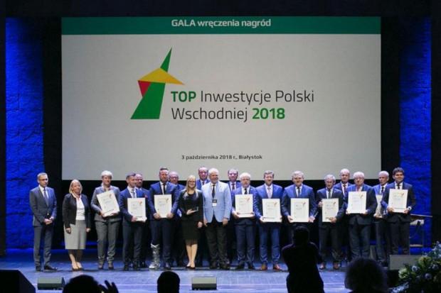 Zwycięzców ubiegłorocznej edycji konkursu Top Inwestycje Polski Wschodniej podczas gali w trakcie Wschodniego Kongresu Gospodarczego w Białymstoku (Fot. PTWP)