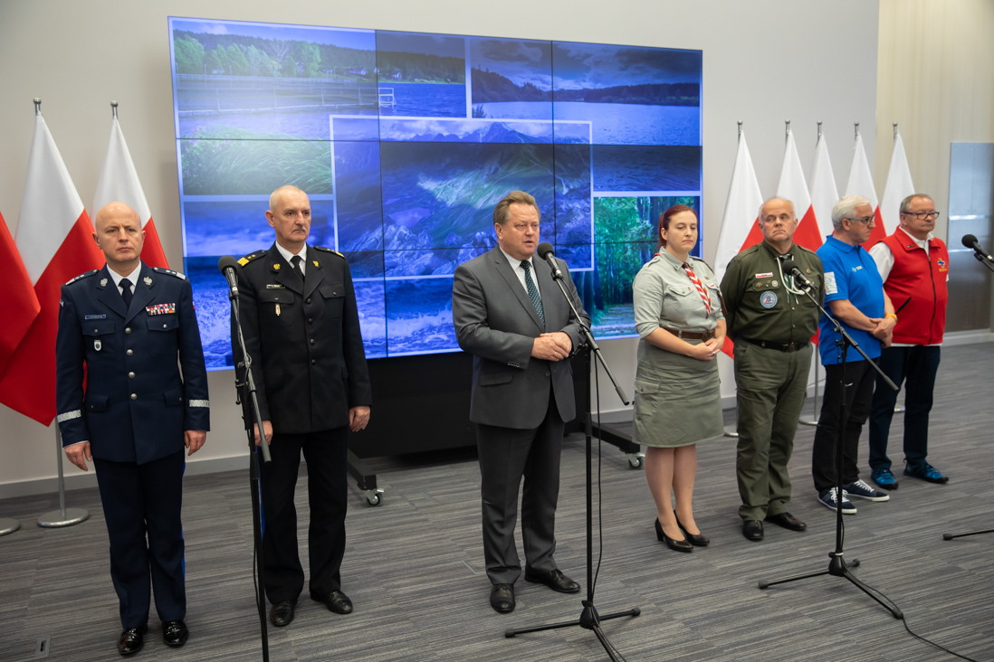 Briefing po posiedzeniu Rady ds. Ratownictwa (fot. mswia.gov.pl)