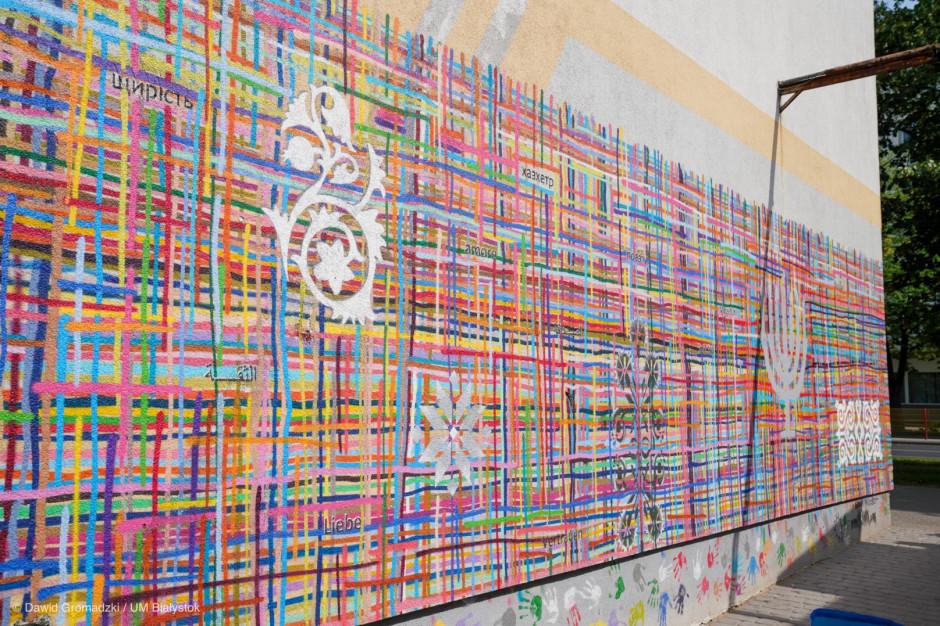 Mural w Białymstoku znów zniszczony