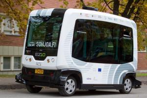 Autobus bez kierowcy na ulicach Gdańska
