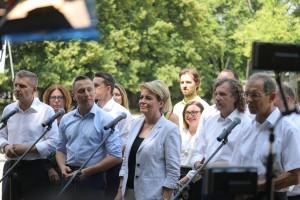 Krzysztof Brejza i Jacek Karnowski w sztabie wyborczym koalicji w wyborach parlamentarnych