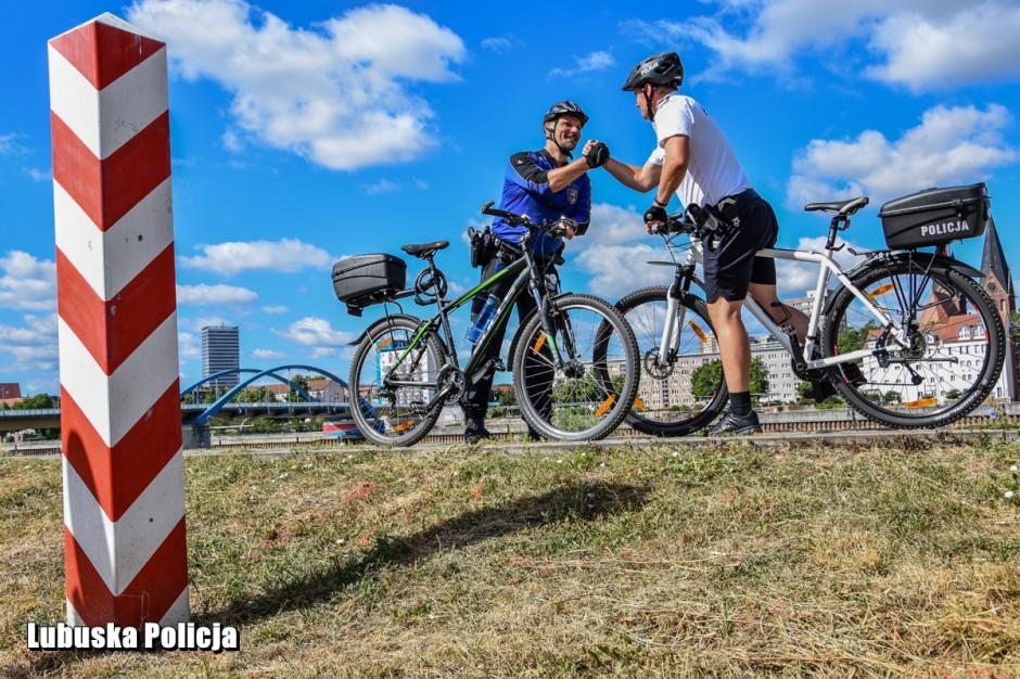 Słubice: Wspólne polsko-niemieckie patrole rowerowe policji
