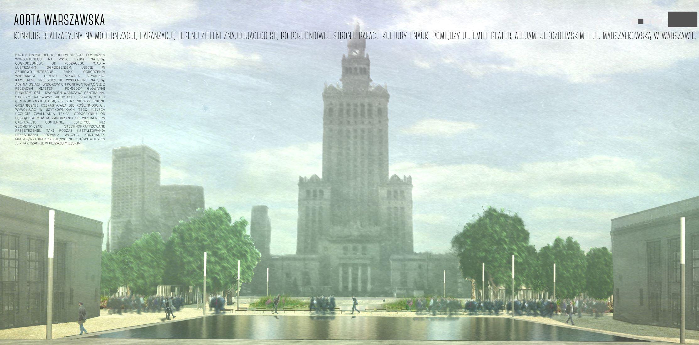 Zwycięski projekt (Źródło: UM Warszawa)