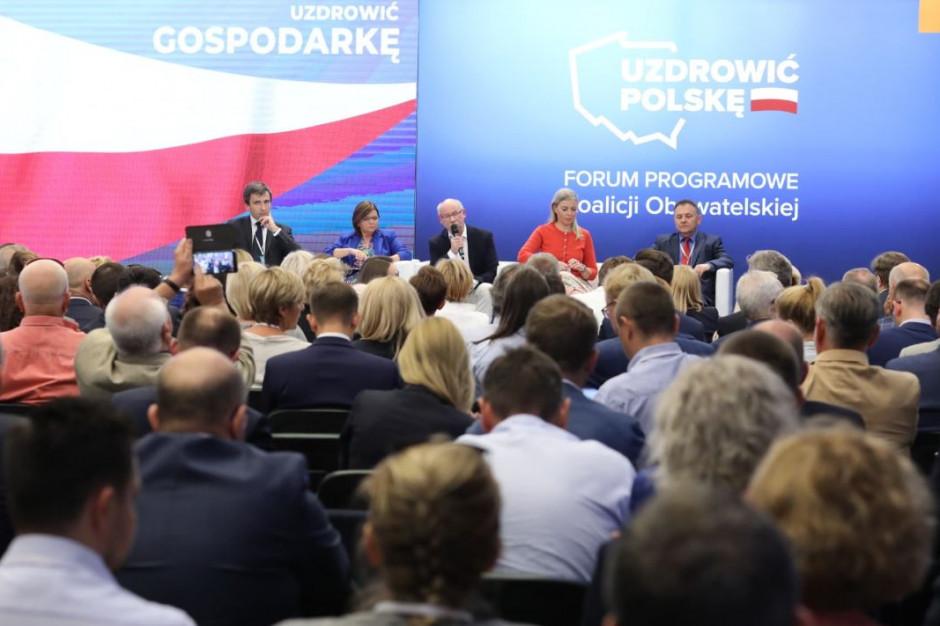 Forum Programowe Koalicji Obywatelskiej: złotówka wydana przez samorząd dwukrotnie lepiej wydaną, niż przez rząd?
