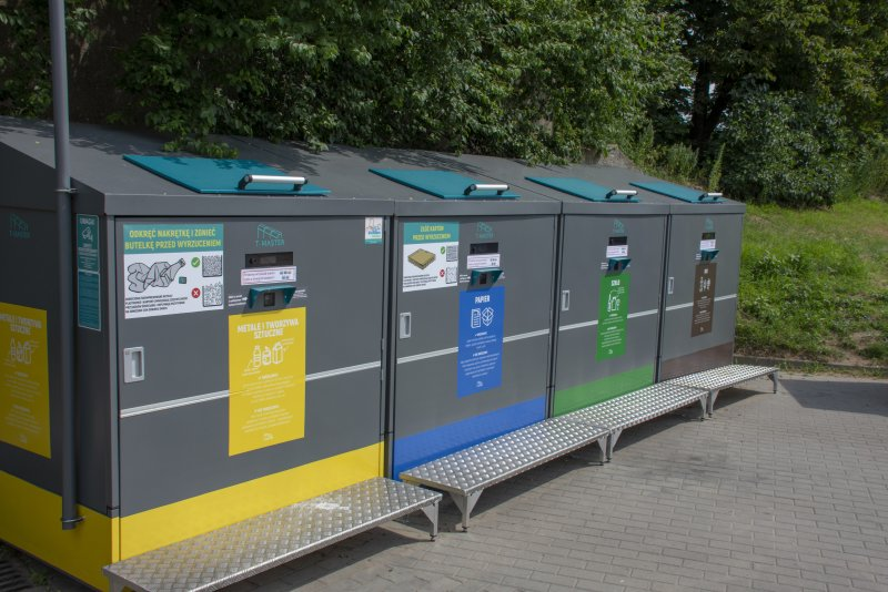 Test inteligentnych pojemników trwa w Ciechanowie od 10 maja (fot. UM Ciechanów)