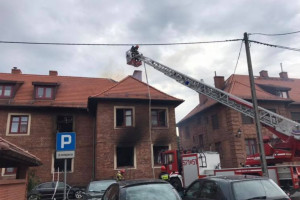 Pożar ugaszony - budynek wyłączony z użytkowania