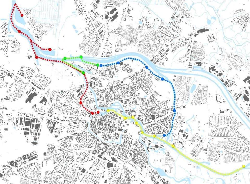 Tak według Jacka Sutryka mogłyby wyglądać trasy Wrocławskiego Tramwaju Wodnego