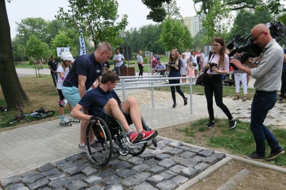 W Rybniku powstał tor dla osób niepełnosprawnych. Niemal w całości z odzysku
