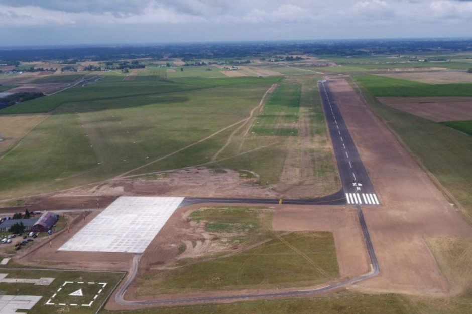 Budowa lotniska w Suwałkach zakończona. Inwestycja kosztowała 27 mln zł