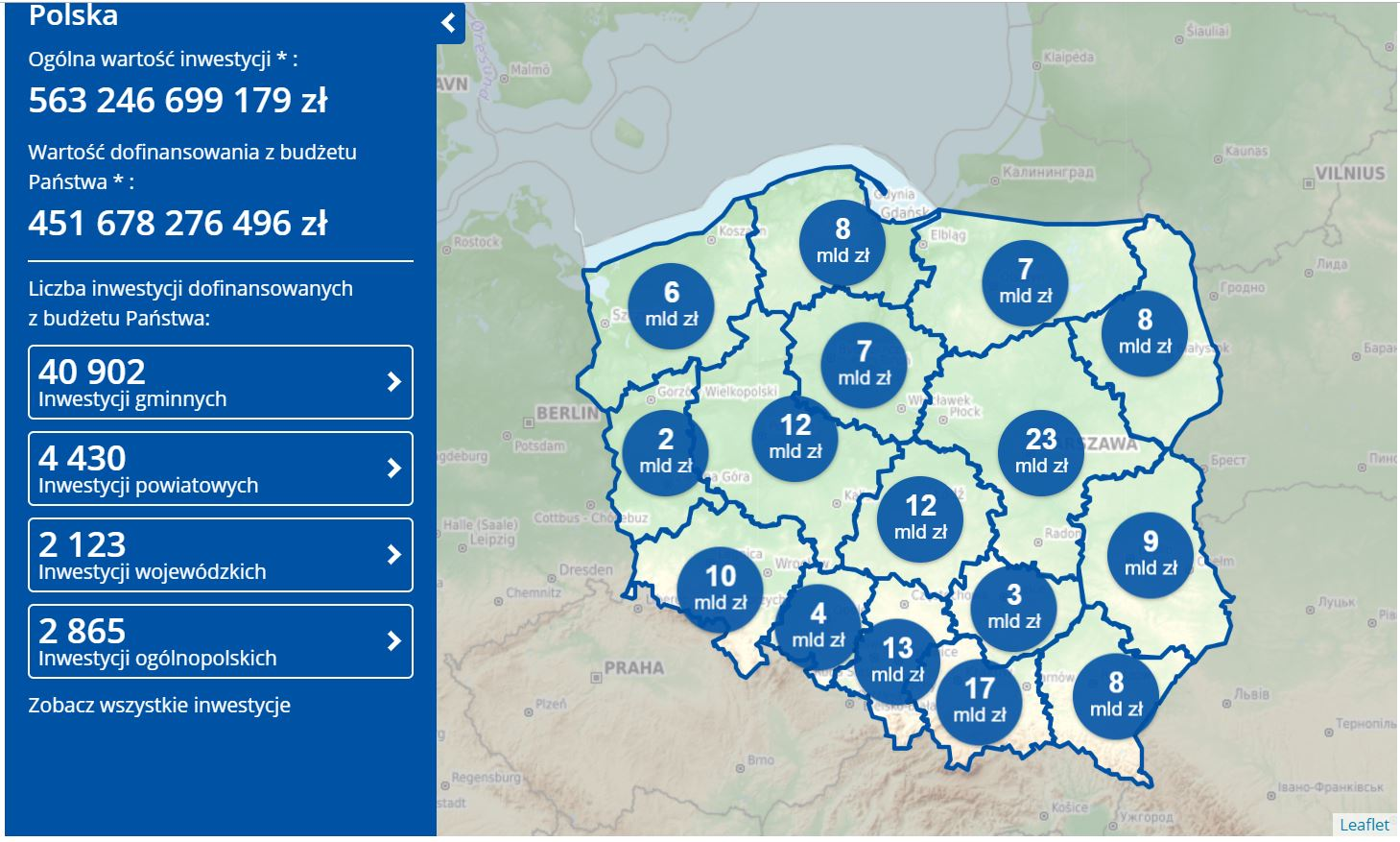 Mapa Inwestycji (fot. www.gov.pl)