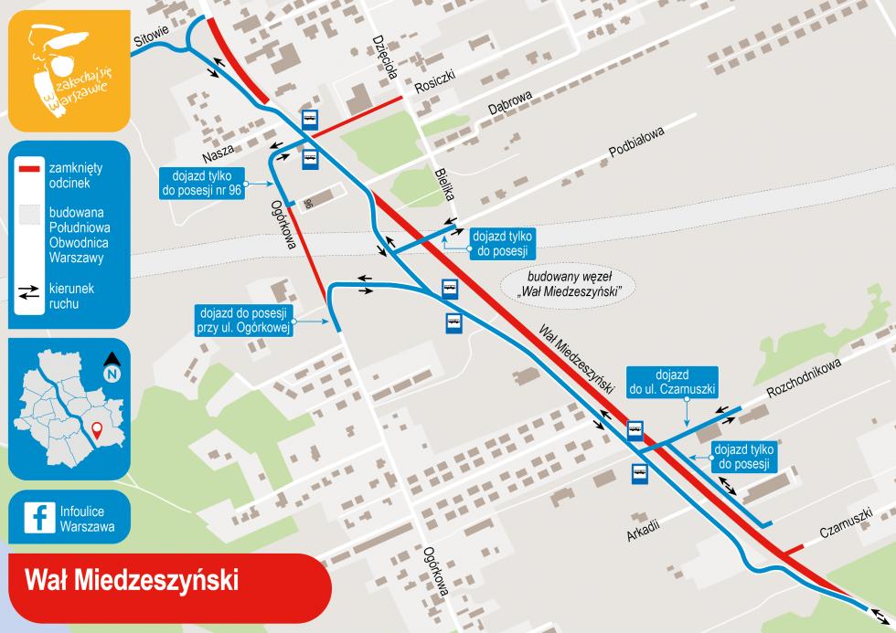 Objazd ul. Wał Miedzeszyński (UMW)