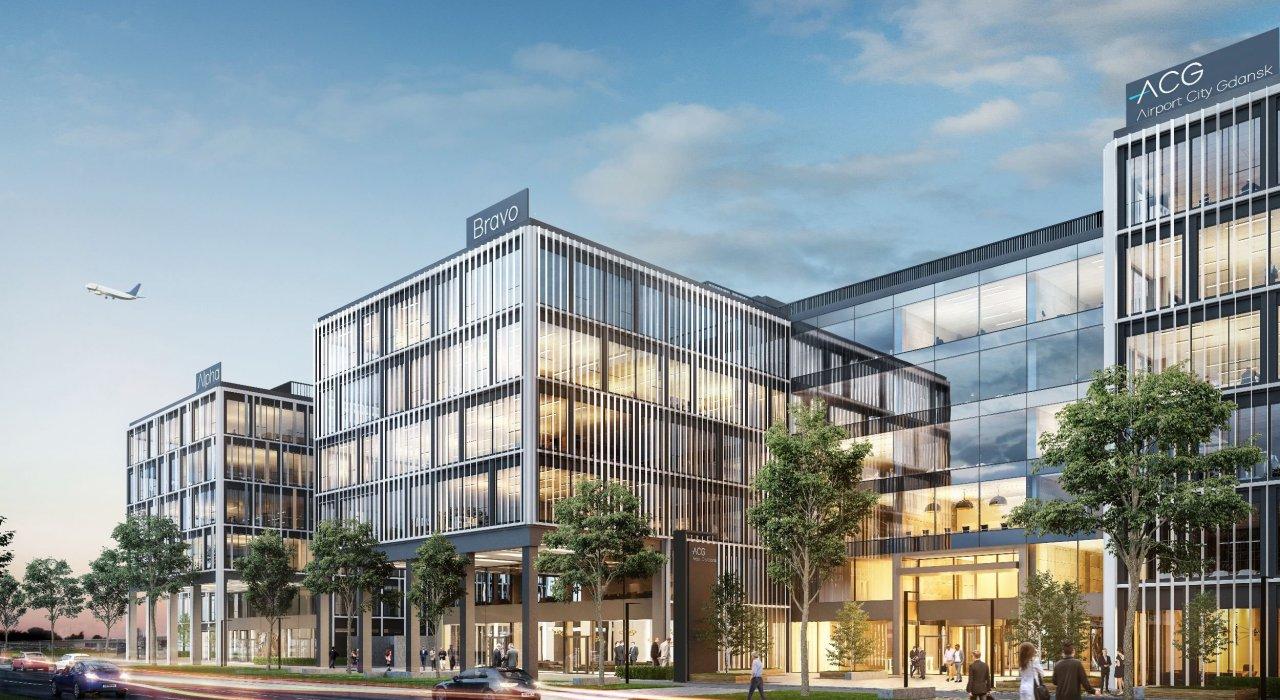 Budynki będą posiadały inteligentny systemem zarządzania (fot. airport.gdansk.pl)