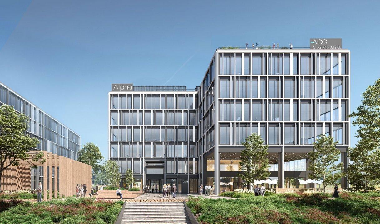 Budynki będą przystosowane do użytku przez osoby z niepełnosprawnościam (fot. airport.gdansk.pl)