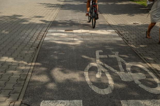 Rowkowane płytki przez przejście dla pieszych w rejonie stacji metra Politechnika i ul. Nowowiejskiej (fot. zgm)