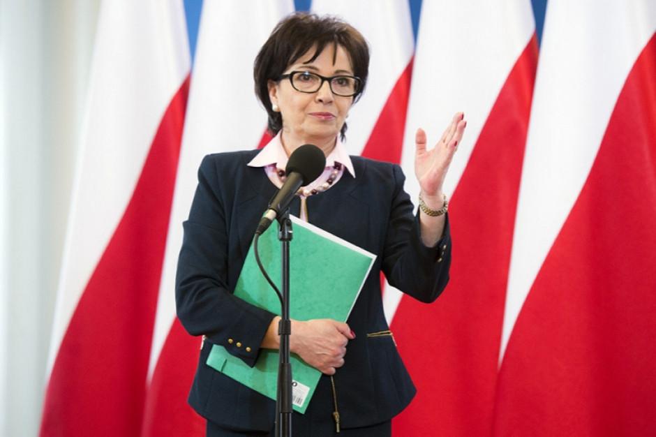 Elżbieta Witek żegna się z resortem administracji
