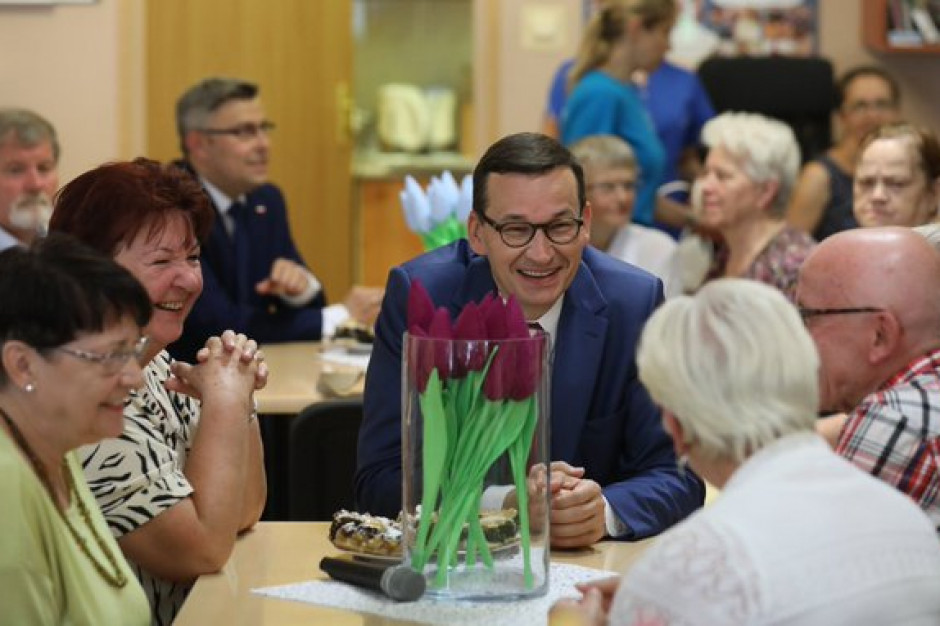 Ruda Śląska: Premier Mateusz Morawiecki spotkał się z seniorami