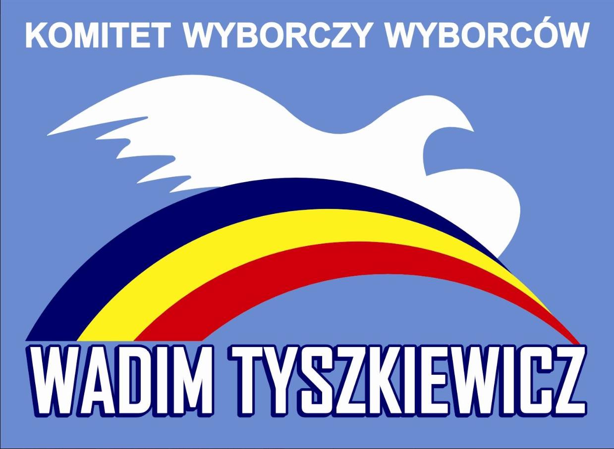 Logo komitetu wyborczego Tyszkiewicza (fot. Facebook/Wadim Tyszkiewicz)