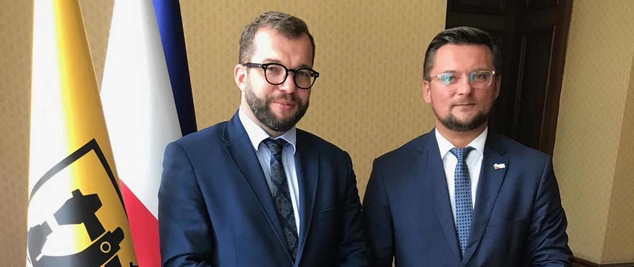 Pełnomocnik rządu Grzegorz Puda i prezydent Katowic Marcin Krupa (fot. MIiR)
