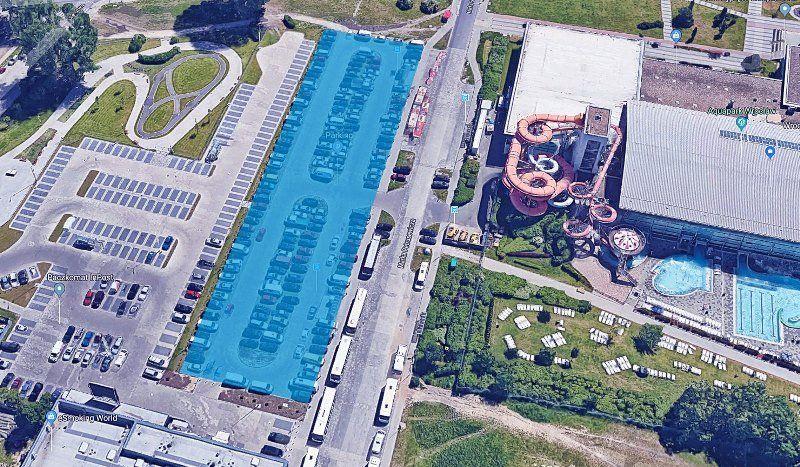 Planowany parking dla Aquaparku, źródło: WPW